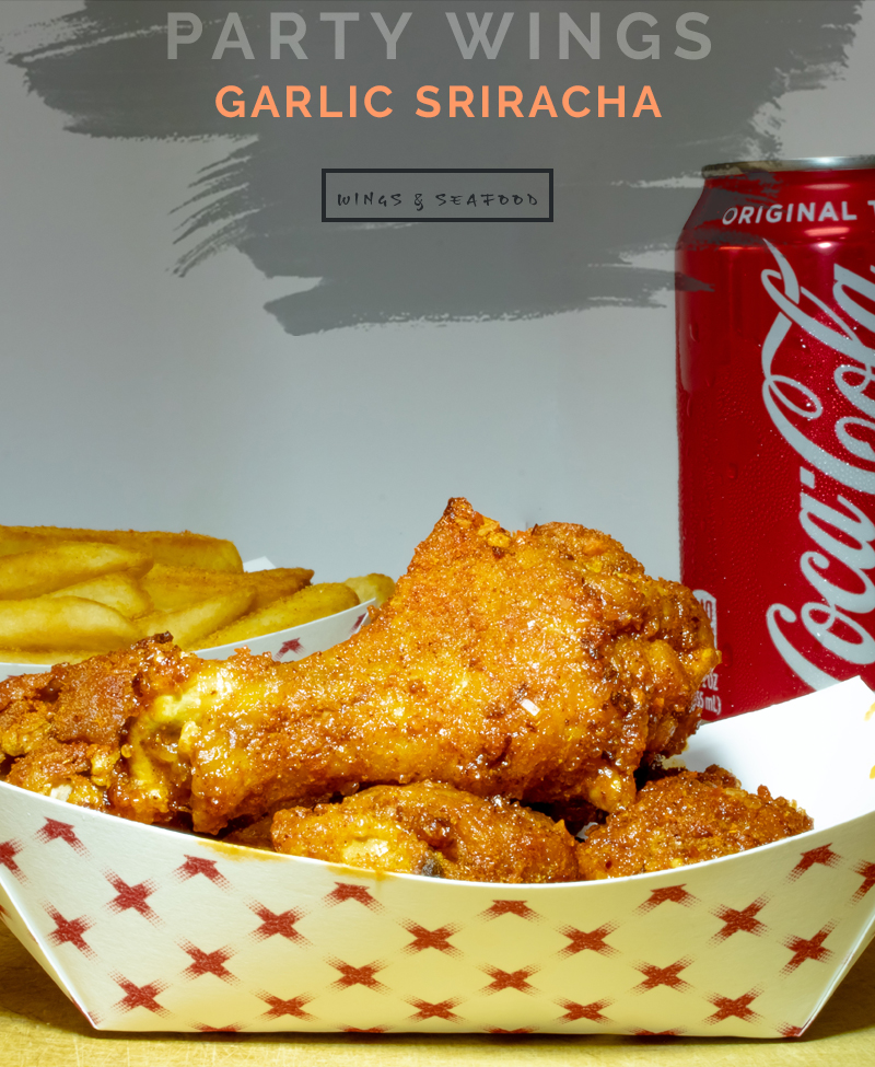 Garlic Sriracha Party Wings